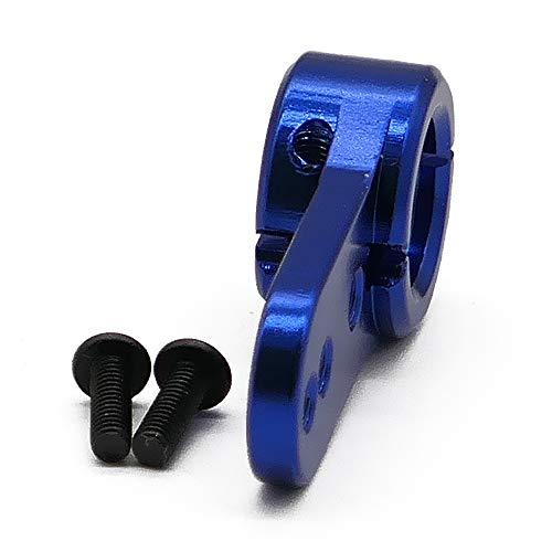 RCAWD Bras servo Demi-Dents 15 t avec 2 vis de Fixation en Alliage d'aluminium N10310 pour Voiture modèle 1/5 RC Passe-Temps(Bleu foncé)