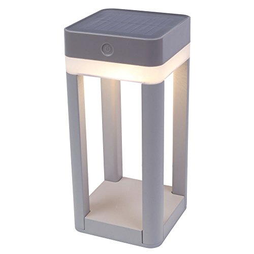 LUTEC LED-padverlichting TABLE CUBE, kunststof, zilver, 11 x 22 x 9 cm