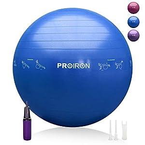 PROIRON Pelota de Pilates 55cm Fitball Pilates Pelota Embarazo (Azul)