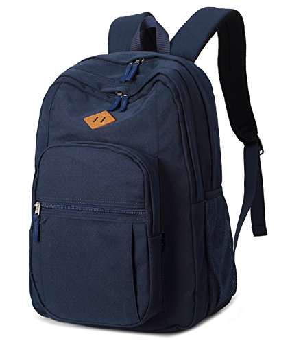 Abshoo Classical Basic Womens Travel Backpack For College Men Water Resistant Bookbag (Navy)