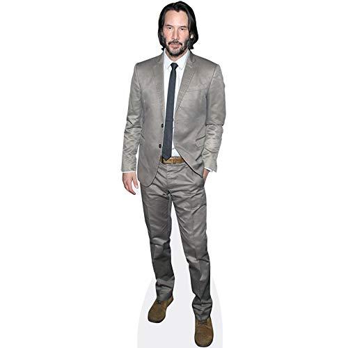 Celebrity Cutouts Keanu Reeves (Grey Suit) Pappaufsteller lebensgross