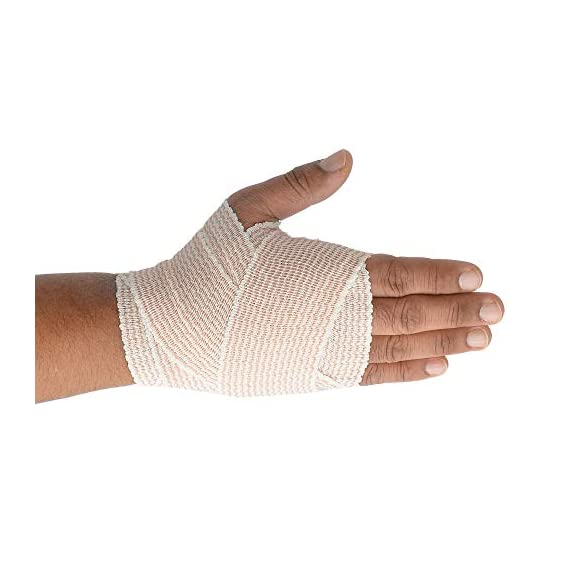 """Dealmed 10 Pack 2"""" Elastic Bandage Wrap with Self-Closure, Comfort Compression Roll, 4.5 Yards Stretched 5 PACK OF COMPRESSION WRAPS 
