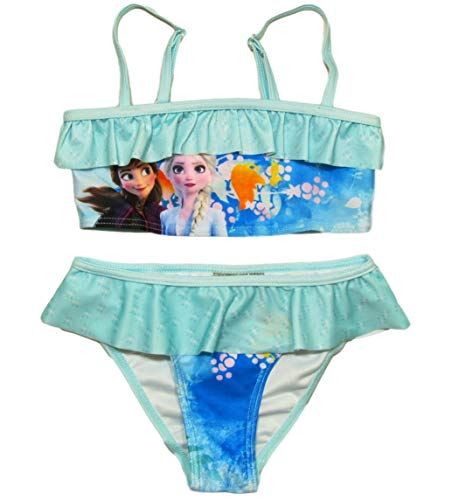 Frozen Bikini Die Eiskönigin Anna und ELSA Tankini (Bikini Pink-Blau, 116)