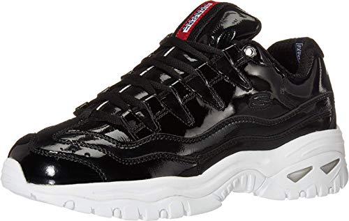 Skechers Women's ENERGY - THRILLER KNIGHT Trainers, Black (Black Patent Leather/Metallic/White Trim Bkw), 7 (40 EU)