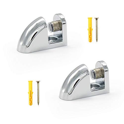 KLEHOPE 2 Pezzi Morsetto di Vetro, Clip in Vetro in Lega di Zinco può Fissare Vetri da 6-10mm, Utilizzato Principalmente per il Fissaggio Della Mensola in Vetro del Bagno
