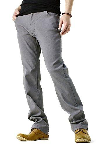 (フラグオンクルー) FLAG ON CREW 超ストレッチ パンツ メンズ テーパードパンツ / B4O / LL レギュラー・グレー