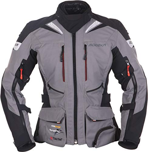 Modeka Panamericana Damen Motorrad Textiljacke Grau/Schwarz 36
