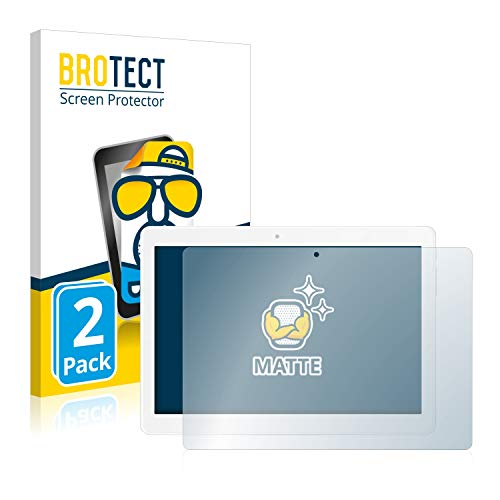 BROTECT 2X Entspiegelungs-Schutzfolie kompatibel mit TrekStor SurfTab Breeze 10.1 Quad 3G Bildschirmschutz-Folie Matt, Anti-Reflex, Anti-Fingerprint