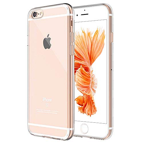 Whew Handyhülle Kompatibel iPhone 6, Schutzhülle Kompatibel iPhone 6s, Ultra Dünn Transparent Weiche Silikon TPU Hülle, Stoßdämpfend, Staubschutz, Anti-Kratz Handyschutzhülle, Clear Case Cover