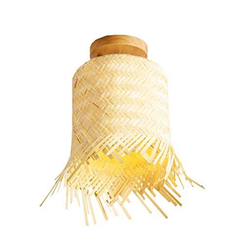 YANQING Duurzame plafondlampen Japanse Stijl Bamboe Plafond Licht Art Retro Plafond Lamp Porch Aisle Balkon Plafond Verlichting Plafond Lichten (Maat: B-28 * 30 CM), Kleur:D-25 * 26 cm