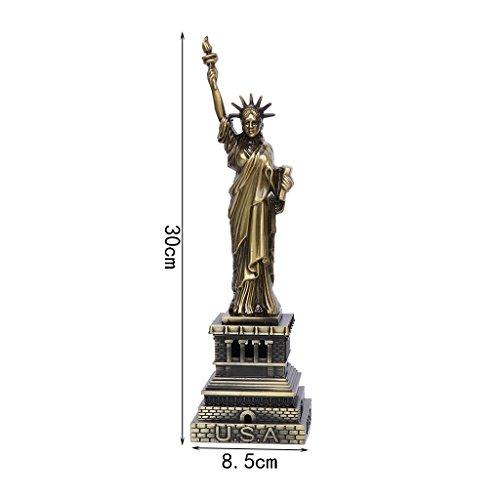 Queenhairs USA Sehenswürdigkeiten Freiheitsstatue Metall Modell Schreibtisch Dekoration Gadget Craft Geschenk
