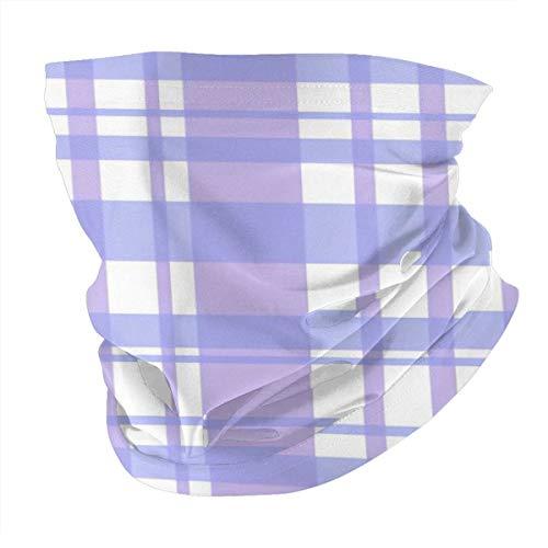 Purple Grid Multifuncional Headwear Bandana Deportes al aire libre Headscarf Máscara sin costuras transpirable Pasamontañas Protección UV Unisex