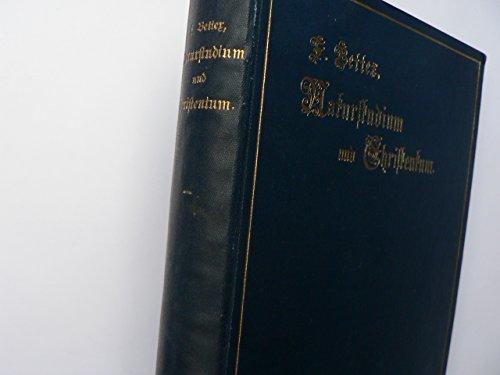 Naturstudium und Christentum. 19.-21. Tsd. Hübsche Widmung in alter Schrift auf Vorsaz. Blauer OLnbd mit goldgeprägter Titelvignette und marmor. Vollschnitt, sehr schönes Exemplar. - 326 S. (pages)