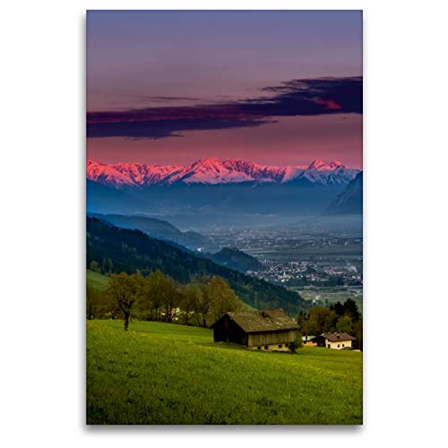 CALVENDO Premium Textil-Leinwand 80 x 120 cm Hoch-Format Weerberg - Tirol, Leinwanddruck von Florian Mauerhofer