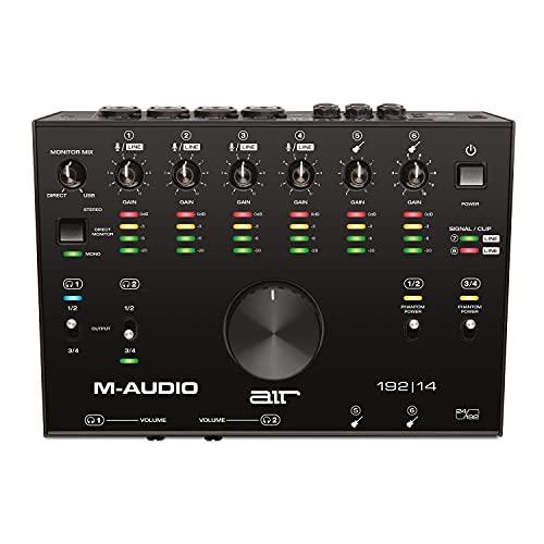 M-Audio AIR 192|14 - Scheda Audio e MIDI USB / USB-C, 8 Entrate, 4 Uscite - per Registrazione Professionale su Mac o PC con Pacchetto Software incluso