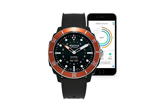 Alpina Watch AL-282LBO4V6 Nero, Rosso smartwatch