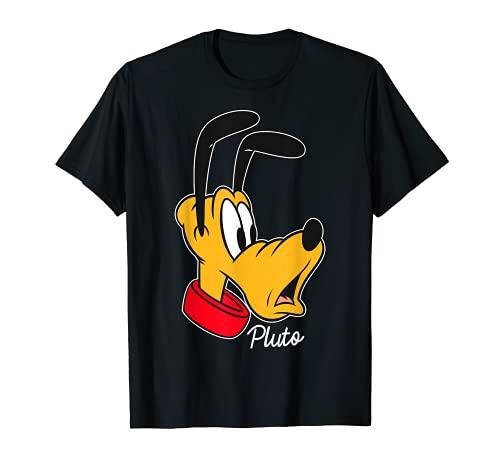 Disney Pluto Surprised Face Portrait Graphic T-Shirt