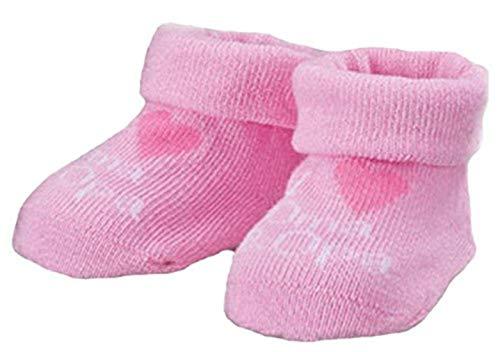Baby Mädchen Jungen Erstlings Söckchen Strümpfe Sneaker Socken für 0-5 Monate in Geschenkbox Rosa Oma Opa