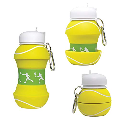 Maccabi Art Collapsible Silicone Tennis Ball Water Bottle