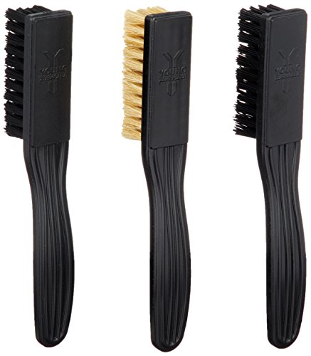 YOUNG AMERICANA SUPPLY Y.A.S Shoe Brush Kit, Shoe Brushes, Shoe Cleaning Brush, Shoe Shine Brush Black