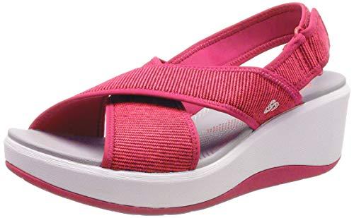 Clarks Step Cali Cove, Zapatillas Mujer, Rojo (Rose-), 38 EU