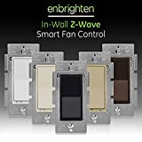 GE, Black, Enbrighten Z-Wave Plus Smart Fan Control, Compatible with Alexa, Google Assistant, SmartThings, Wink, Zwave Hub Required, Repeater/Range Extender, 3-Way Compatible, 35544