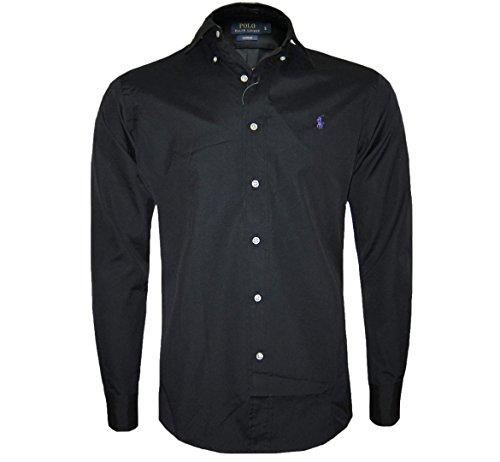 Preisvergleich Produktbild Ralph Lauren Herren Polo Shirt,  langärmelig in Schwarz,  Marineblau,  Weiß - Größen S, M, L, XL, XXL - Schwarz,  Medium