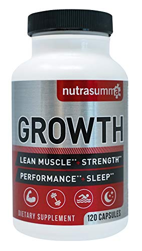 Nutrasumma Growth Hormone Supplement - 120 Capsules Natural Vitamins & Minerals, Lean Muscle Growth, Strength, Endurance & Recovery- Dietary Supplement