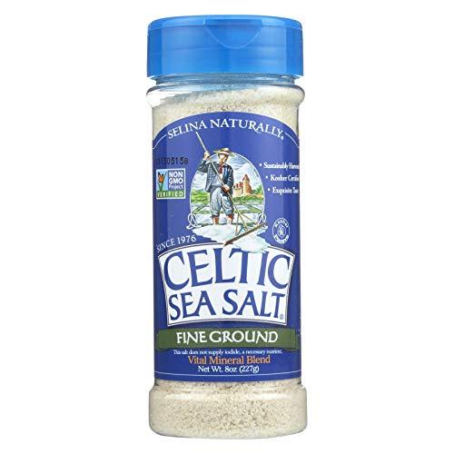 Celtic Sea Salt Fine Ground - 8 oz Shaker - Bulk 6 Pack