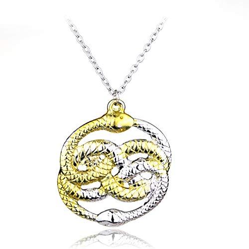 Die Unendliche Geschichte Halskette Nie Ende Auryn Ouroboros Schlangen Anhänger Halskette Für Männer Frauen Mode Schmuck Geschenk