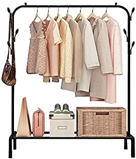 Lukzer 1 PC Multipurpose Clothes Rack with Bottom Shelves, Closet Organizer Coat Hanger/Freestanding Clothes Garment Stand...