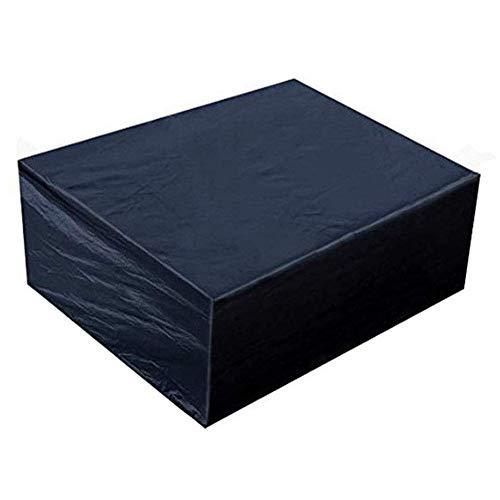Huolirong Funda Protectora para Muebles Impermeable Cubierta De Mesa Servicio Pesado Oxford Coperture per Esterno Muebles De Jardín Funda (Color : Black, Size : 242×162×100CM)