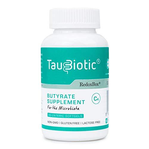 TauBiotic® von RedoxBox® - 90 Enterische Weichkapseln - Butyrat Nahrungsergänzungsmittel (Tributyrin 500 mg) für Mikrobiota