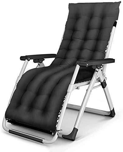 Silla de gravedad Reclinable reclinable reclinable reclinable plegable almuerzo sillón silla silla silla de silla vieja silla trasera balcón casa ocio silla portátil verano fresco silla de playa, 3 es