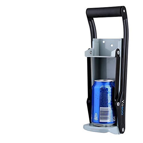 Dosenpresse, für 455-ml-Bierdosen, mit Flaschenöffner, große Dosenpresse, Wandmontage, Recycling-Werkzeug für Limonaden- und Coladosen