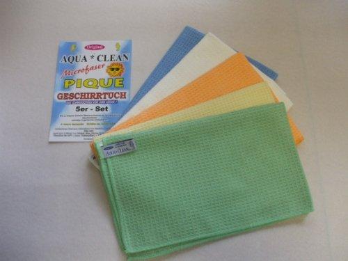 Aqua Clean Piquet-Geschirrtücher 5er