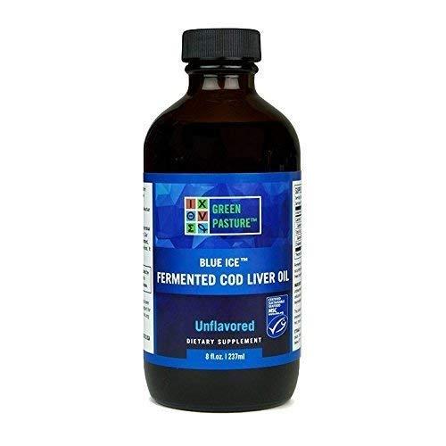 Green Pasture Blaues Eis gegorenes Kabeljau-Leber-Öl - unflavoured Flüssigkeit (237ml) Fermented Cod Liver Oil