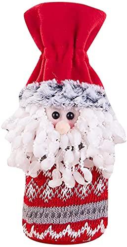 decorazioni natalizie da esterno Vendita di decorazioni natalizie Borsa di vino rosso Set di bottiglie di vino Decorazione della tavola di casa Forniture per feste di Natale Decorazioni natalizie Palline da esterno Regali per bambini