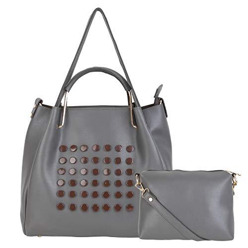 don cavalli Women's PU Leather Handbag (Grey)