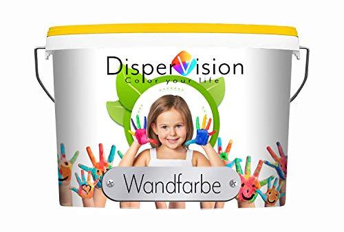 DisperVision Wandfarbe KF weiß & getönt matt Innenfarbe KONSERVIERUNGSMITTELFREI Geruchsarm Hochdeckend & Abwischbar (2,5 L, Weiß)