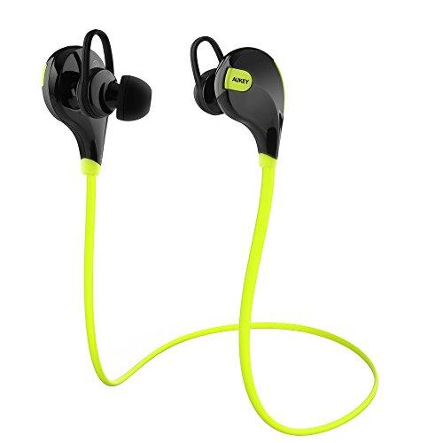 AUKEY Sport Bluetooth Kopfhörer 4.1 Stereo Ohrhörer In Ear Bluetooth Kopfhörer mit Mikrofon für iOS und Android Handys iPad Laptops Tablet