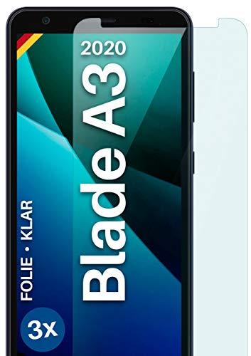 moex Klare Schutzfolie kompatibel mit ZTE Blade A3 2020 - Displayfolie kristallklar, HD Displayschutz, dünne Kratzfeste Folie, 3X Stück