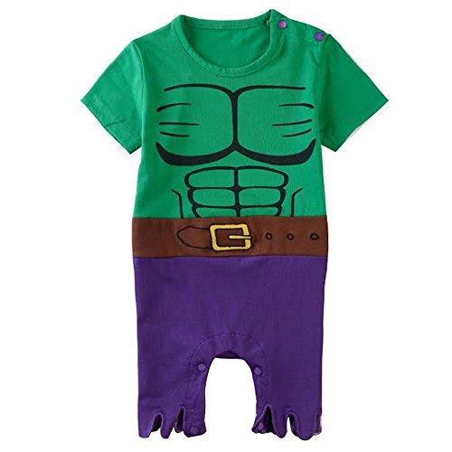 Equipo infantil inspirado en Hulk. 0-6 Meses