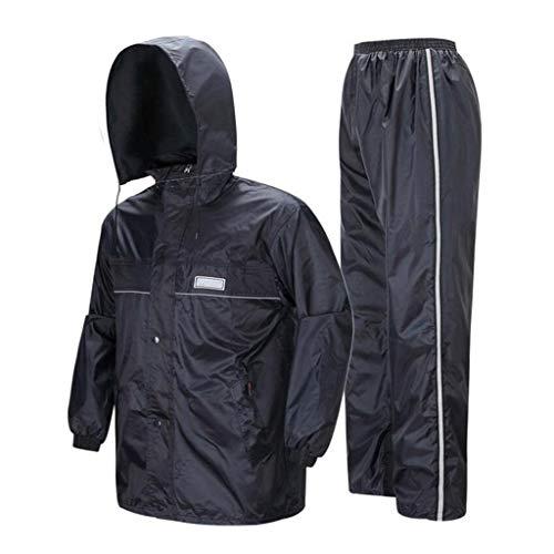 YDS Shop waterdichte sportkleding voor heren, regenjas en regenbroek, ski-jas/diepe verdikking/opstaande kraag, capuchon, design, geschikt voor buitengebruik, motorfiets, golven, vissen, wandelen, jacht, camping XXXXl