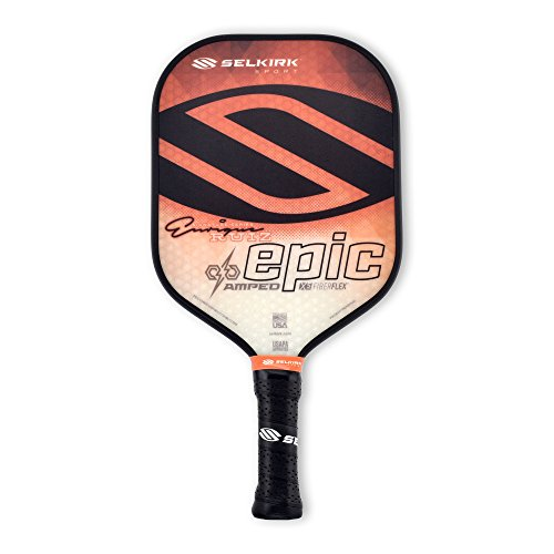 Selkirk Amped Pickleball Paddles - Made in The USA - Use The Paddle of The Pros (2019 Epic Orange Enrique Signature Midweight)