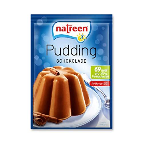 Natreen Pudding Schokolade mit nur 69 kcal pro 100g Dessert, 3 x 40 g