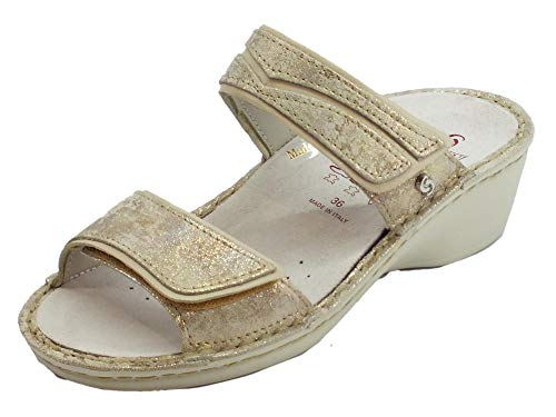 Sabatini Pepita Sandalen für Damen aus Nubukleder, herausnehmbar, Beige - beige - Größe: 36 EU