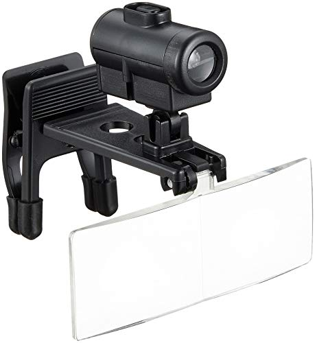 TSK メガネ用クリップルーペ 倍率2.5倍 レンズ径28×74mm LEDライト付き 日本製 RX-4800L