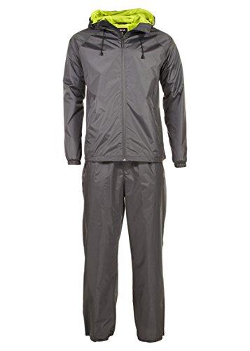Swiss Alps Mens Ripstop Water-Resistant 2 Piece Rain Suit Charcoal XL Minnesota