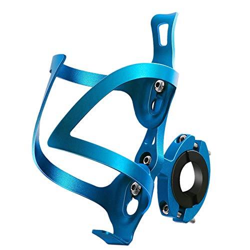 Tamkyo Soporte de Vasos de Bicicleta, Soporte de Botella 2 en 1 para Bicicleta, Soporte de Vasos de Copa de RotacióN Universal para Manillar de Bicicleta, Azul